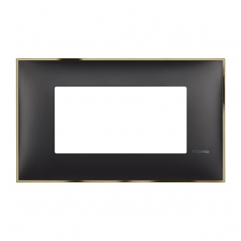 PVC четиримодулна рамка, black gold, bticino, classia, r4804bd