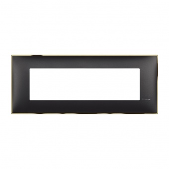 PVC седеммодулна рамка, black gold, bticino, classia, r4807bd