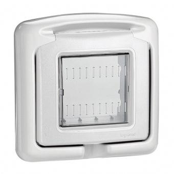 водоустойчив лицев панел, 2m, PI55, white, bticino, classia, 27602