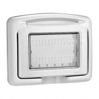 водоустойчив лицев панел, 3m, PI55, white, bticino, classia, 27603