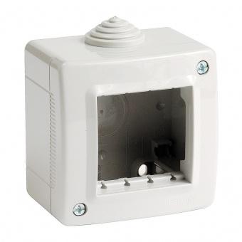 водоустойчива кутия за открит монтаж, 2m, PI40, white, bticino, classia, 27402