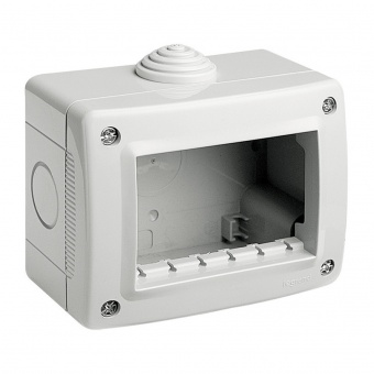 водоустойчива кутия за открит монтаж, 3m, PI40, white, bticino, classia, 27403