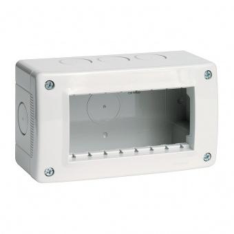 водоустойчива кутия за открит монтаж, 4m, PI40, white, bticino, classia, 27404
