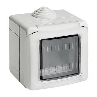 водоустойчива кутия за открит монтаж, 2m, IP55, white, bticino, classia, 27502