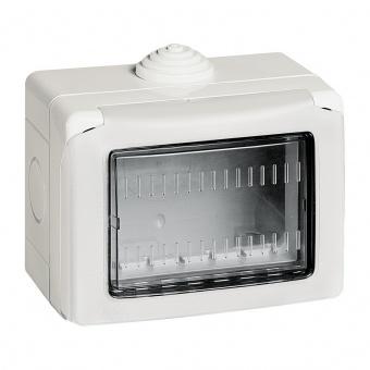 водоустойчива кутия за открит монтаж, 3m, IP55, white, bticino, classia, 27503