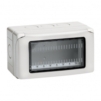 водоустойчива кутия за открит монтаж, 4m, IP55, white, bticino, classia, 27504