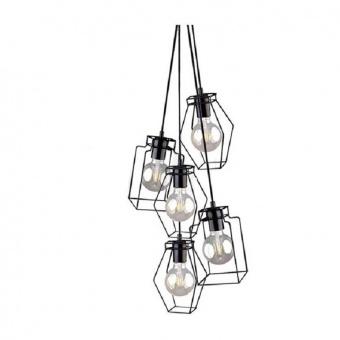 метален полилей, black, nowodvorski, fiord, 5x40w, 9665