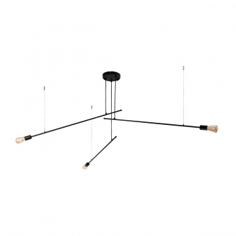 метален полилей, black, nowodvorski, pile, 3x40w, 9128