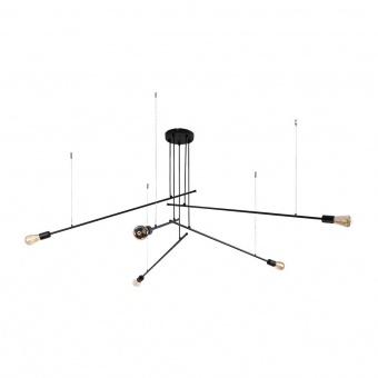 метален полилей, black, nowodvorski, pile, 5x40w, 9127