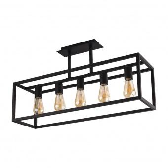 метален плафон, black, nowodvorski, crate, 5x40w, 9047