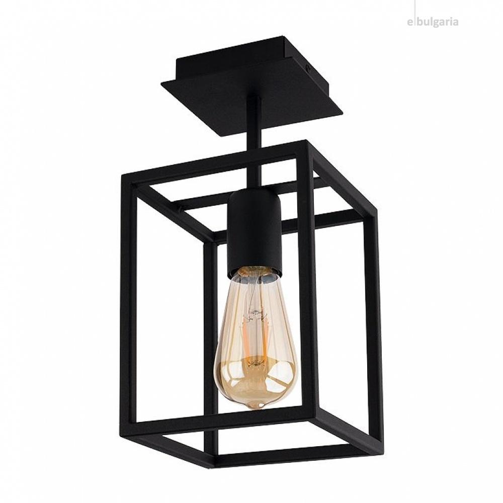 метален плафон, black, nowodvorski, crate, 1x40w, 9045