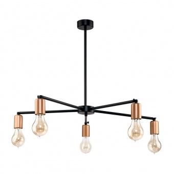 метален полилей, black+copper, nowodvorski, sticks, 5x40w, 9735