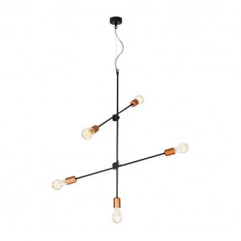 метален полилей, black+copper, nowodvorski, sticks, 5x40w, 6270