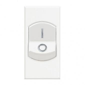 двуполюсен ключ, 1p 16a, white, bticino, axolute, hd4011
