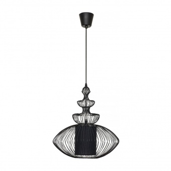 метален пендел, black, nowodvorski, aida, 1x40w, 4614