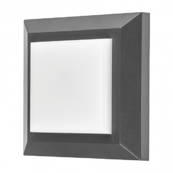 метално градинско тяло, dark grey, vivalux, alvia sq, led 4.5w, 4000k, 290lm, 003664