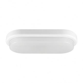 pvc градинско тяло, white+clear, vivalux, ellis/o, led 12w, 4000k, 850lm, 003817
