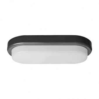 pvc градинско тяло, black+clear, vivalux, ellis/o, led 18w, 4000k, 1300lm, 004006