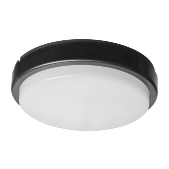 pvc градинско тяло, black+clear, vivalux, ellis/r, led 12w, 4000k, 850lm, 004007
