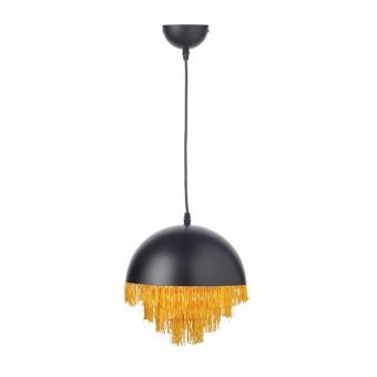 метален пендел, matt black+brushed brass, aca lighting, poker, 1x40w, dcr1711725p