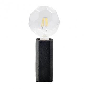 натолна лампа от глина, black, aca lighting, avantgarde, 1x40w, v372011tbk