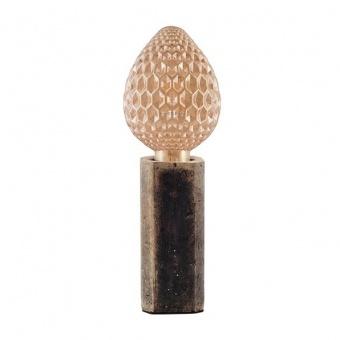 натолна лампа от глина, brown-black, aca lighting, avantgarde, 1x40w, v372011tbn