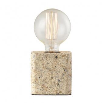 натолна лампа от глина, beige gravel, aca lighting, avantgarde, 1x40w, v372061tbe
