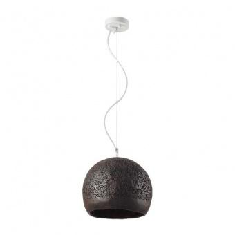 пендел от глина, dark brown+matt white, aca lighting, avantgarde, 1x40w, v372251pbn