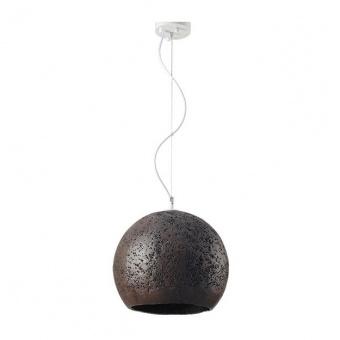 пендел от глина, dark brown+matt white, aca lighting, avantgarde, 1x40w, v372351pbn