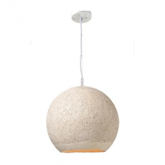пендел от глина, beige+matt white, aca lighting, avantgarde, 1x40w, v372351pbe