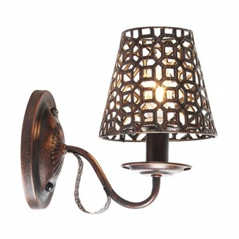 метален аплик, copper-black, aca lighting, vintage, 1x40w, eg169751wbc