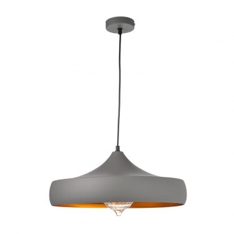 метален пендел, sand grey+gold, aca lighting, vintage, 1x40w, ks07961pgg