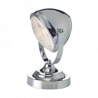 метална настолна лампа, chrome+transparent glass, aca lighting, vintage, 1x40w, ml306131tch