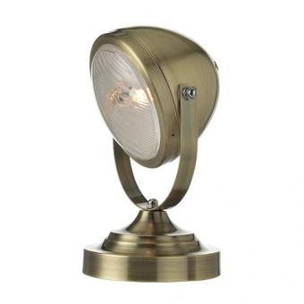 метална настолна лампа, satin bronze+transparent glass, aca lighting, vintage, 1x40w, ml306131tbr