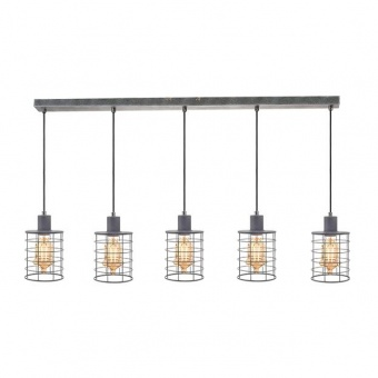 метален полилей, cement shade, aca lighting, vintage, 5x40w, gn735pce