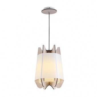 pvc пендел, light wood shade+matt white+white, aca lighting, style, 1x40w, zm170011p