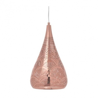 метален пендел, polished copper, aca lighting, style, 1x40w, od90901pc