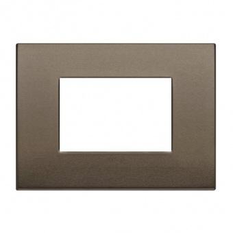 алуминиева тримодулна рамка, dark bronze, vimar, arke, 19653.17