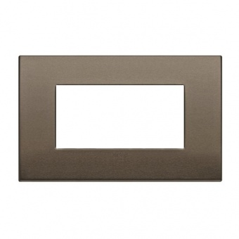 алуминиева четримодулна рамка, dark bronze, vimar, arke, 19654.17