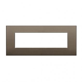 алуминиева седеммодулна рамка, dark bronze, vimar, arke, 19657.17