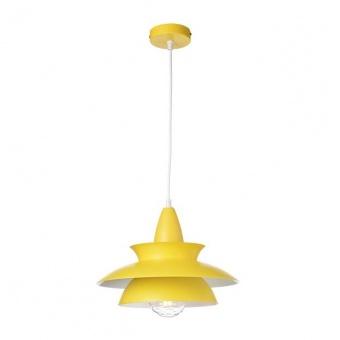 метален пендел, matt yellow+white, aca lighting, style, 1x40w, ks07881pyw