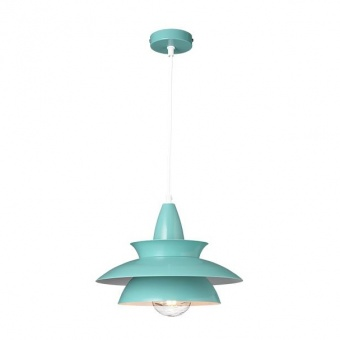 метален пендел, polished mint+white, aca lighting, style, 1x40w, ks07881pmt