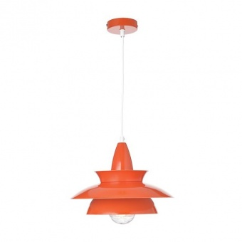 метален пендел, polished dark orange+white, aca lighting, style, 1x40w, ks07881pek