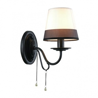 текстилен аплик, matt black+black&white+pearl white+clear, aca lighting, textile, 1x40w, eg167281wbw