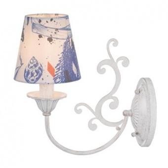 текстилен аплик, goldwhite patina+white navy, aca lighting, textile, 1x40w, eg169881wb