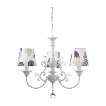 текстилен полилей, purple patina+white-multicolour+clear, aca lighting, textile, 3x40w, eg169883pp