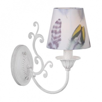 текстилен аплик, purple patina+white-multicolour, aca lighting, textile, 1x40w, eg169881wp