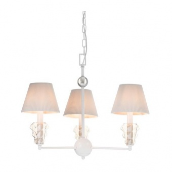 текстилен полилей, matt white+white-gold+amber, aca lighting, textile, 3x40w, eg168453pwa