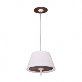 текстилен пендел, dark wood shade+white, aca lighting, textile, 1x40w, zm16281pdw