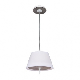 текстилен пендел, cement shade+white, aca lighting, textile, 1x40w, zm16281pc